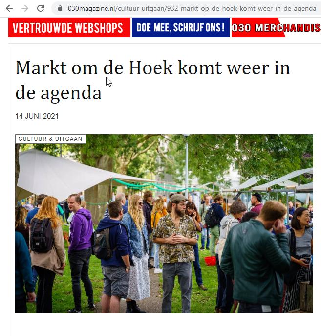 Marktomde hoek in 030magazine.nl